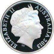 1 Dollar - Elizabeth II (4th Portrait - 2013 AFL Premiers - Silver Proof) -  obverse