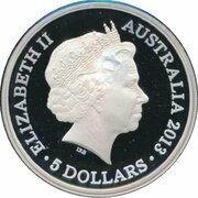 5 Dollars - Elizabeth II (4th Portrait - Centenary of Canberra - Silver Proof) – obverse