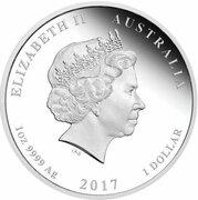 1 Dollar - Elizabeth II (4th Portrait - 70th Wedding Anniversary - Silver Proof) -  obverse