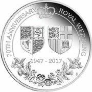 1 Dollar - Elizabeth II (4th Portrait - 70th Wedding Anniversary - Silver Proof) -  reverse