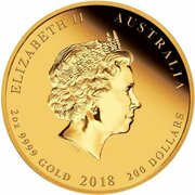 200 Dollars - Elizabeth II (4th Portrait - 65th Anniversary Coronation - Gold Proof) – obverse