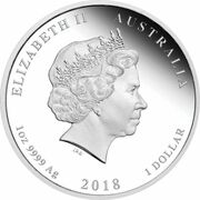 1 Dollar - Elizabeth II (4th Portrait - 65th Anniversary Coronation - Silver Proof) -  obverse