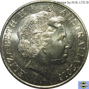 25 Cents - Elizabeth II (4th Portrait - Peace) – obverse
