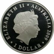 1 Dollar - Elizabeth II (4th Portrait - World Masters Games - Silver Proof) -  obverse