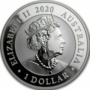 1 Dollar -Elizabeth II (6th Portrait - Australian Silver Swan) -  obverse