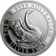 1 Dollar -Elizabeth II (6th Portrait - Australian Silver Swan) -  reverse