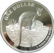 1 Dollar - Elizabeth II (4th Portrait - Kangaroo - Silver Bullion Coin) -  reverse