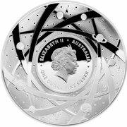 5 Dollars - Elizabeth II (4th Portrait - The Sun - Silver Domed) -  obverse