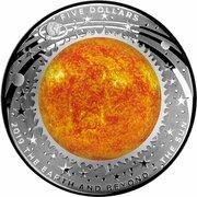 5 Dollars - Elizabeth II (4th Portrait - The Sun - Silver Domed) -  reverse