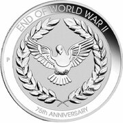 10 Cents - Elizabeth II (6th Portrait - 75th Anniversary of the end of WWII) -  reverse