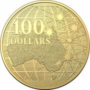 100 Dollars - Elizabeth II (6th Portrait - Beneath the Southern Skies - Gold Bullion Coin) -  reverse
