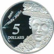 5 Dollars - Elizabeth II (3rd Portrait - Dame Nellie Melba - Masterpieces in Silver) -  reverse