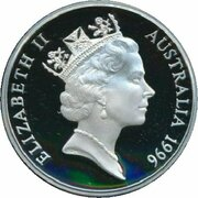 5 Dollars - Elizabeth II (3rd Portrait - Tom Roberts - Masterpieces in Silver) -  obverse