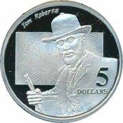 5 Dollars - Elizabeth II (3rd Portrait - Tom Roberts - Masterpieces in Silver) -  reverse