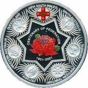 1 Dollar - Elizabeth II (4th Portrait - Federation State Tribute NSW - Silver Proof) -  reverse