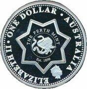 1 Dollar - Elizabeth II (4th Portrait - Federation State Tribute QLD - Silver Proof) -  obverse
