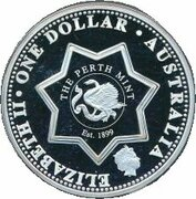 1 Dollar - Elizabeth II (4th Portrait - Federation State Tribute WA - Silver Proof) -  obverse