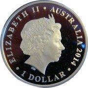 1 Dollar - Elizabeth II (4th Portrait - Megafauna - Megalania) -  obverse
