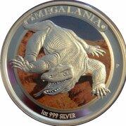 1 Dollar - Elizabeth II (4th Portrait - Megafauna - Megalania) -  reverse