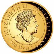 200 Dollars - Elizabeth II (6th Portrait - Australian Wedge-tailed Eagle - Gold Bullion Coin) -  obverse