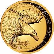 200 Dollars - Elizabeth II (6th Portrait - Australian Wedge-tailed Eagle - Gold Bullion Coin) -  reverse