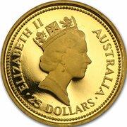 25 Dollars - Elizabeth II (3rd Portrait - Gold Nugget - Fathers Day - Bullion Coin) -  obverse