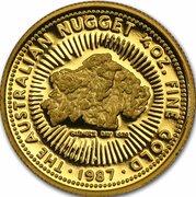 25 Dollars - Elizabeth II (3rd Portrait - Gold Nugget - Fathers Day - Bullion Coin) -  reverse