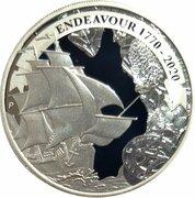 1 Dollar - Elizabeth II (6th Portrait -  Voyage of Discovery Endeavour 1770 - 2020) -  reverse