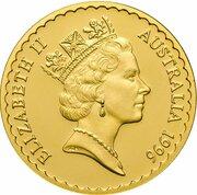 100 Dollars - Elizabeth II (3rd Portrait - Tasmanian Blue Gum - Gold Bullion Coin) – obverse
