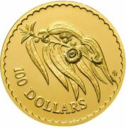 100 Dollars - Elizabeth II (3rd Portrait - Tasmanian Blue Gum - Gold Bullion Coin) – reverse