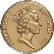 100 Dollars - Elizabeth II (3rd Portrait - Kangaroo Paw - Gold Bullion Coin) – obverse