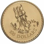100 Dollars - Elizabeth II (4th Portrait - Desert Pea - Gold Bullion Coin) – reverse