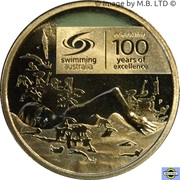 1 Dollar - Elizabeth II (4th Portrait - 100 Years of Swimming Excellence) -  reverse