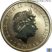 1 Dollar - Elizabeth II (4th Portrait - Burke & Wills 150 Years) -  obverse