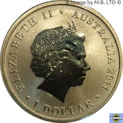 1 Dollar - Elizabeth II (4th Portrait - Centenary of RMC Duntroon) -  obverse