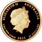 25 Dollars - Elizabeth II (4th Portrait - Birth HRH Prince George - Gold Proof) -  obverse