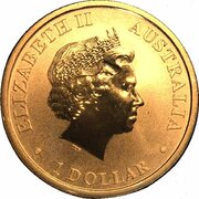 1 Dollar - Elizabeth II (4th Portrait - Birth HRH Prince George) – obverse