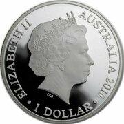 1 Dollar - Elizabeth II (4th Portrait - Australian Kangaroo - Silver Proof) -  obverse