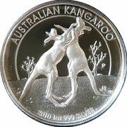 1 Dollar - Elizabeth II (4th Portrait - Australian Kangaroo - Silver Proof) -  reverse