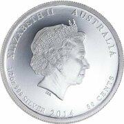 50 Cents - Elizabeth II (4th Portrait - 1914 Australia's First Action) -  obverse