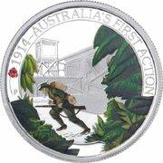 50 Cents - Elizabeth II (4th Portrait - 1914 Australia's First Action) -  reverse
