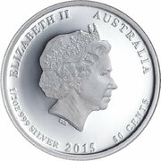 50 Cents - Elizabeth II (4th Portrait - 1915 Bravest of the Brave) -  obverse