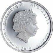 50 Cents - Elizabeth II (4th Portrait - 1915 Spirit of the Fallen) -  obverse