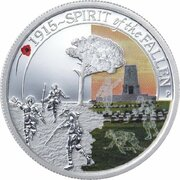 50 Cents - Elizabeth II (4th Portrait - 1915 Spirit of the Fallen) -  reverse