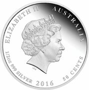 50 Cents - Elizabeth II (4th Portrait - 1916 Brothers in Arms) -  obverse