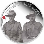 50 Cents - Elizabeth II (4th Portrait - 1916 Brothers in Arms) -  reverse