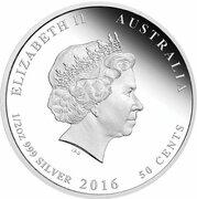 50 Cents - Elizabeth II (4th Portrait - 1916  Australia's first ANZAC Day) -  obverse