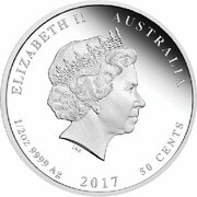 50 Cents - Elizabeth II (4th Portrait - 1917 Speed and Surprise) -  obverse