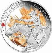50 Cents - Elizabeth II (4th Portrait - 1917 Speed and Surprise) -  reverse