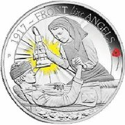 50 Cents - Elizabeth II (4th Portrait - 1917 Front Line Angels) – reverse